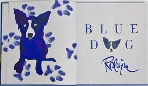 George Rodrigue Original BLUE DOG Drawing Signed