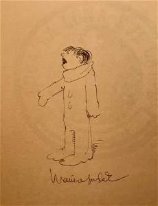 Maurice Sendak Original Drawing & Signed Book