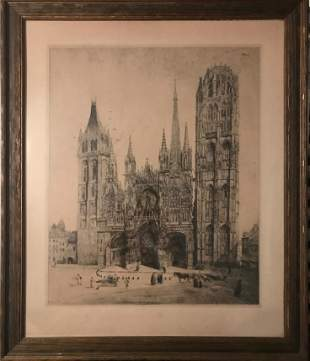 George Le Meilleur French18611945 ROUEN CATHEDRAL