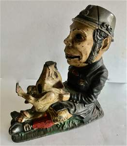 PADDY & THE PIG Cast Iron Mechanical Bank 1882
