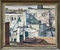 Brooklyn Urban Landscape Oil Painting, MacDonald 1957