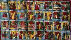 Ethiopian Coptic Christian Biblical Narrative Painting