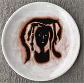 Lurcat Jean Modernist Ceramic Enameled Plate 1950s