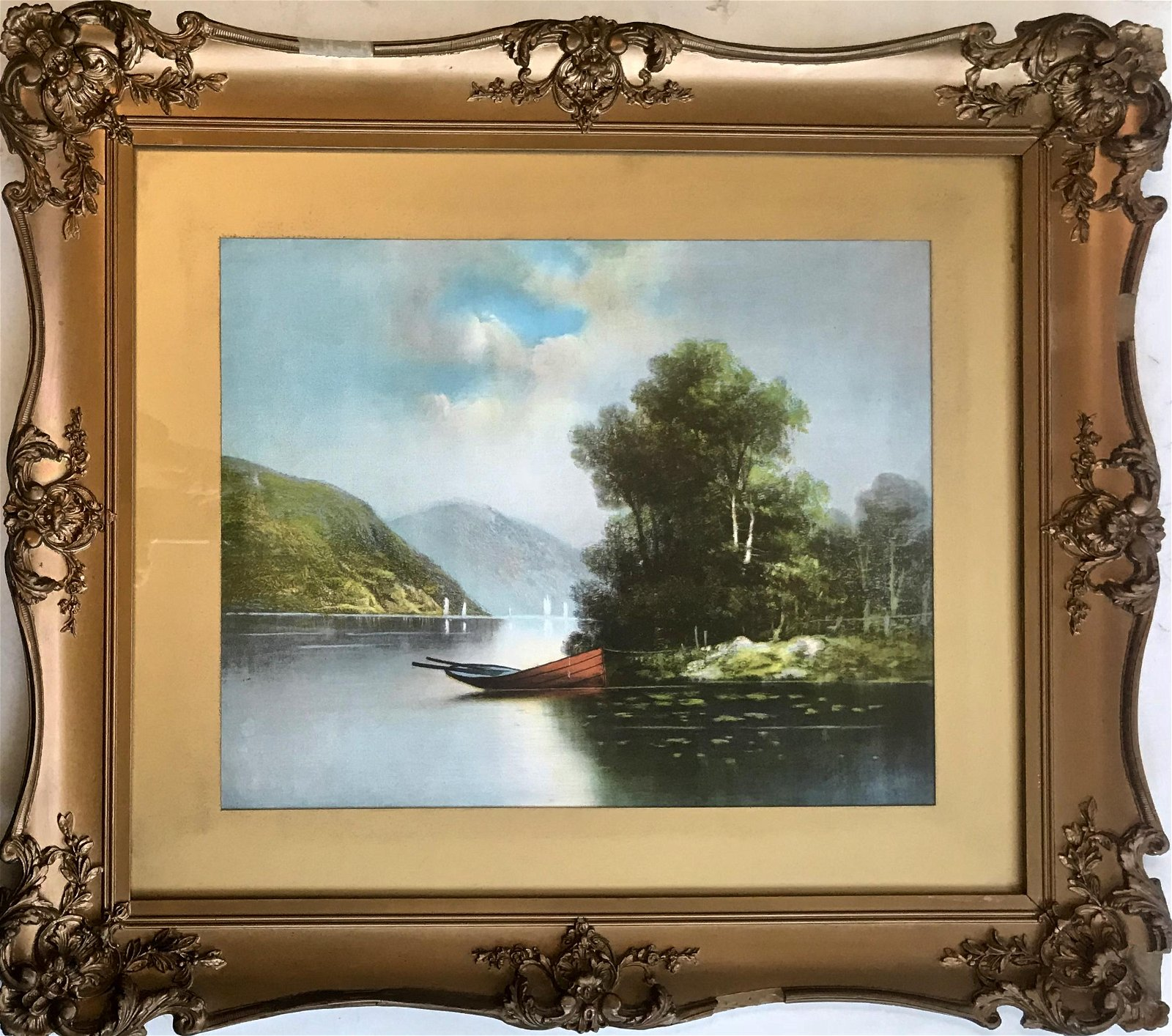 Hudson Valley River Landscape Oil Painting