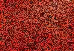 LA Ii (Angel Ortiz) Graffiti Painting On Wood BUGGING