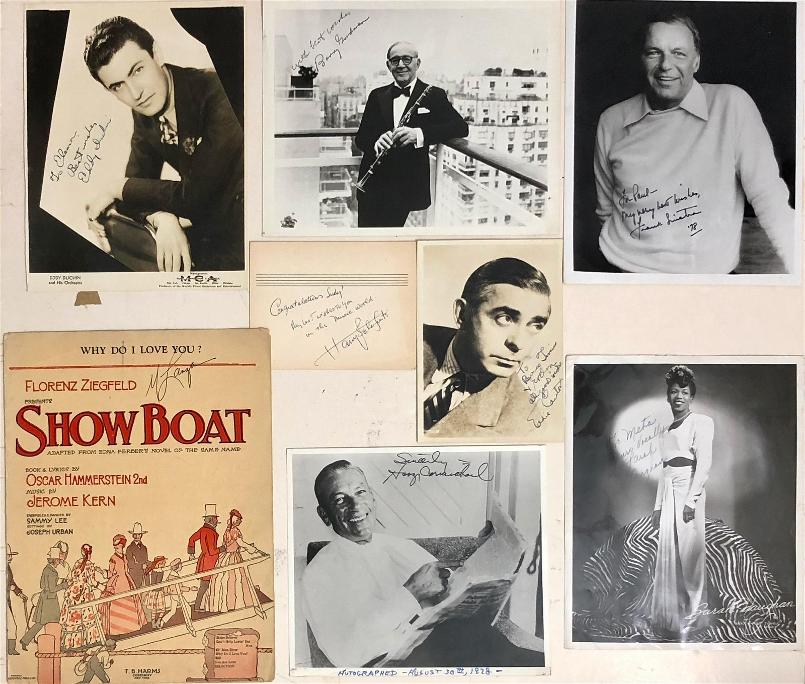 Great American Entertainers Inscribed Photographs