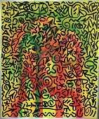 LAIi (Angel Ortiz) Graffiti Painting On Wood LAROC