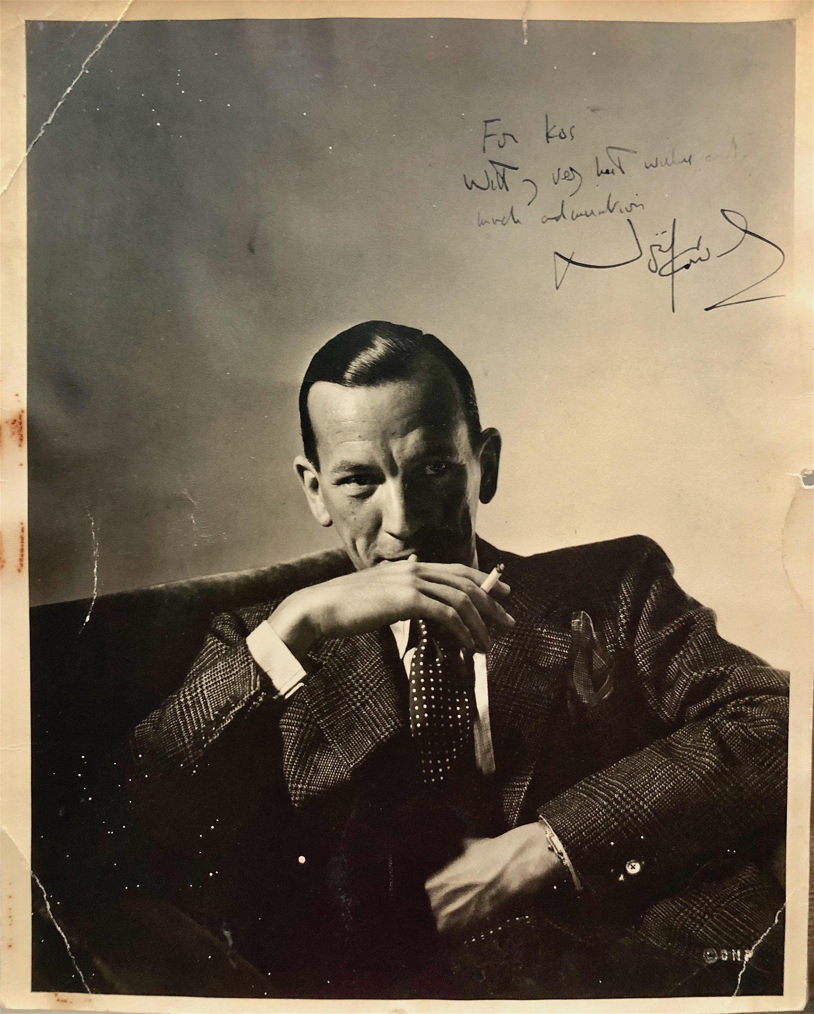 Horst P. Horst, Noel Coward Inscribed Photo, Paris 1936