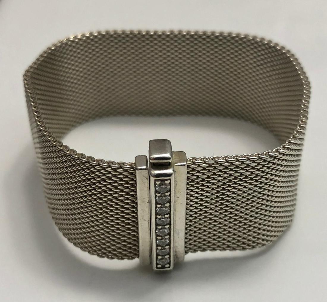 Tiffany & Co. Somerset Mesh & Diamond Bracelet