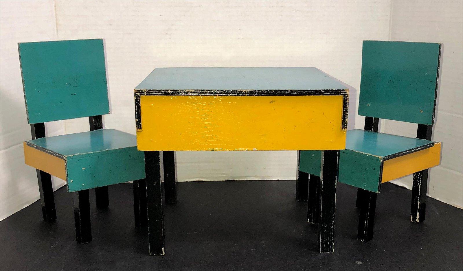 Ado Ko Verzuu Chairs & Table Holland 1925