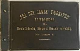 Danish Workshop Textile Photograph Album c.1894