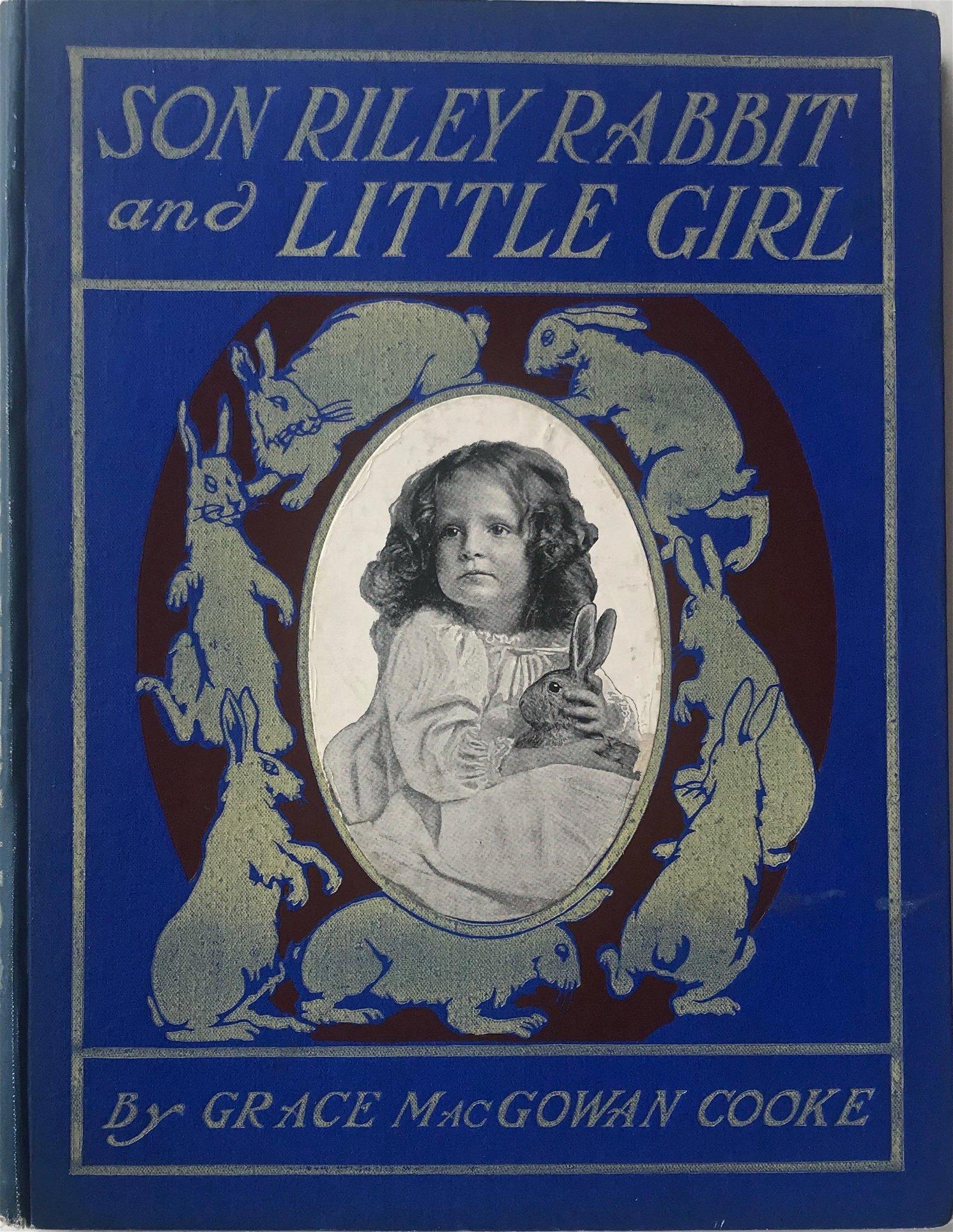 Son Riley Rabbit & Little Girl 1909