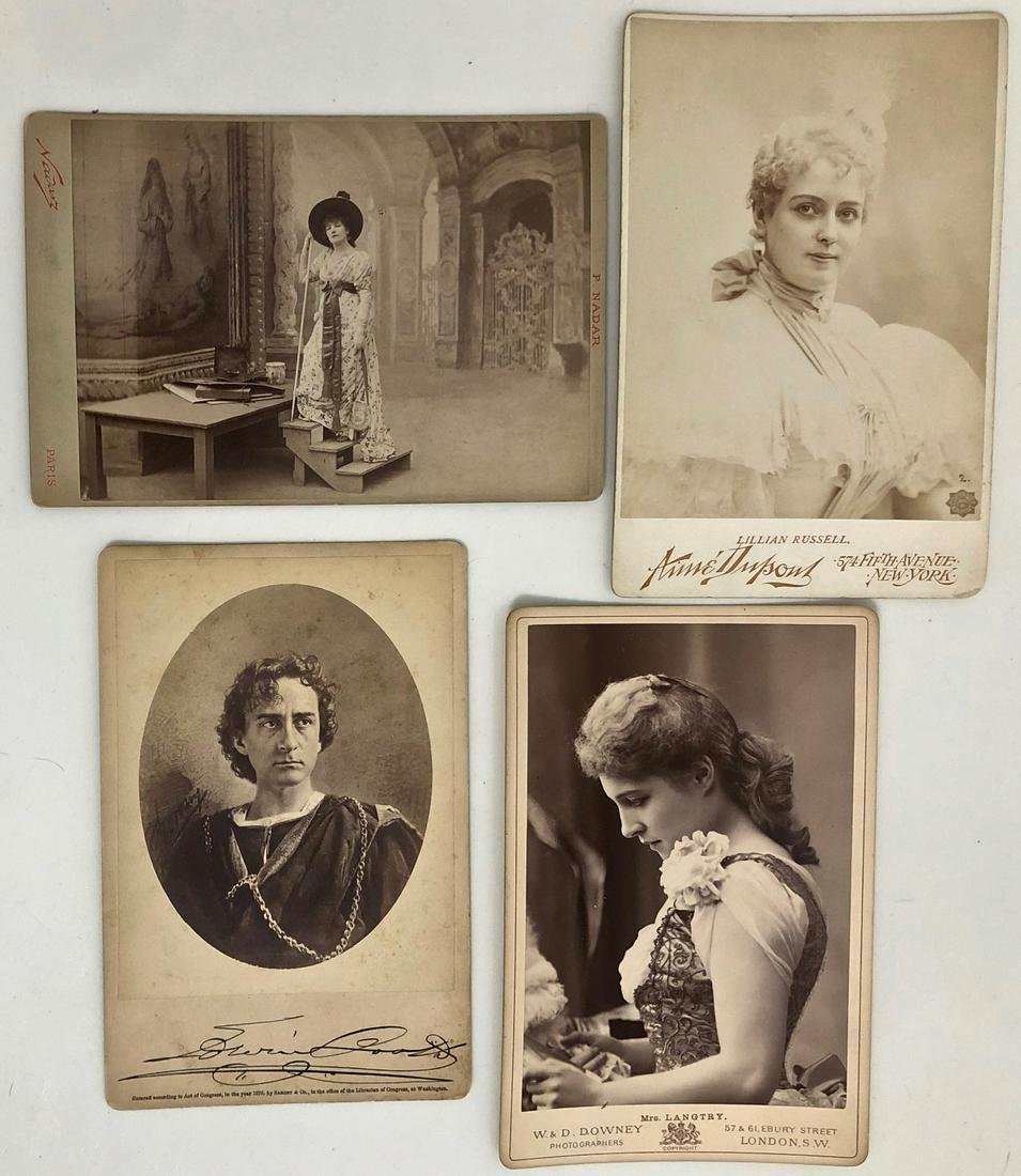 Theater Cabinet Cards Bernhardt, Booth,Russell,Langtry