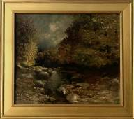 American Impressionist Landscape Oil Painting Signed