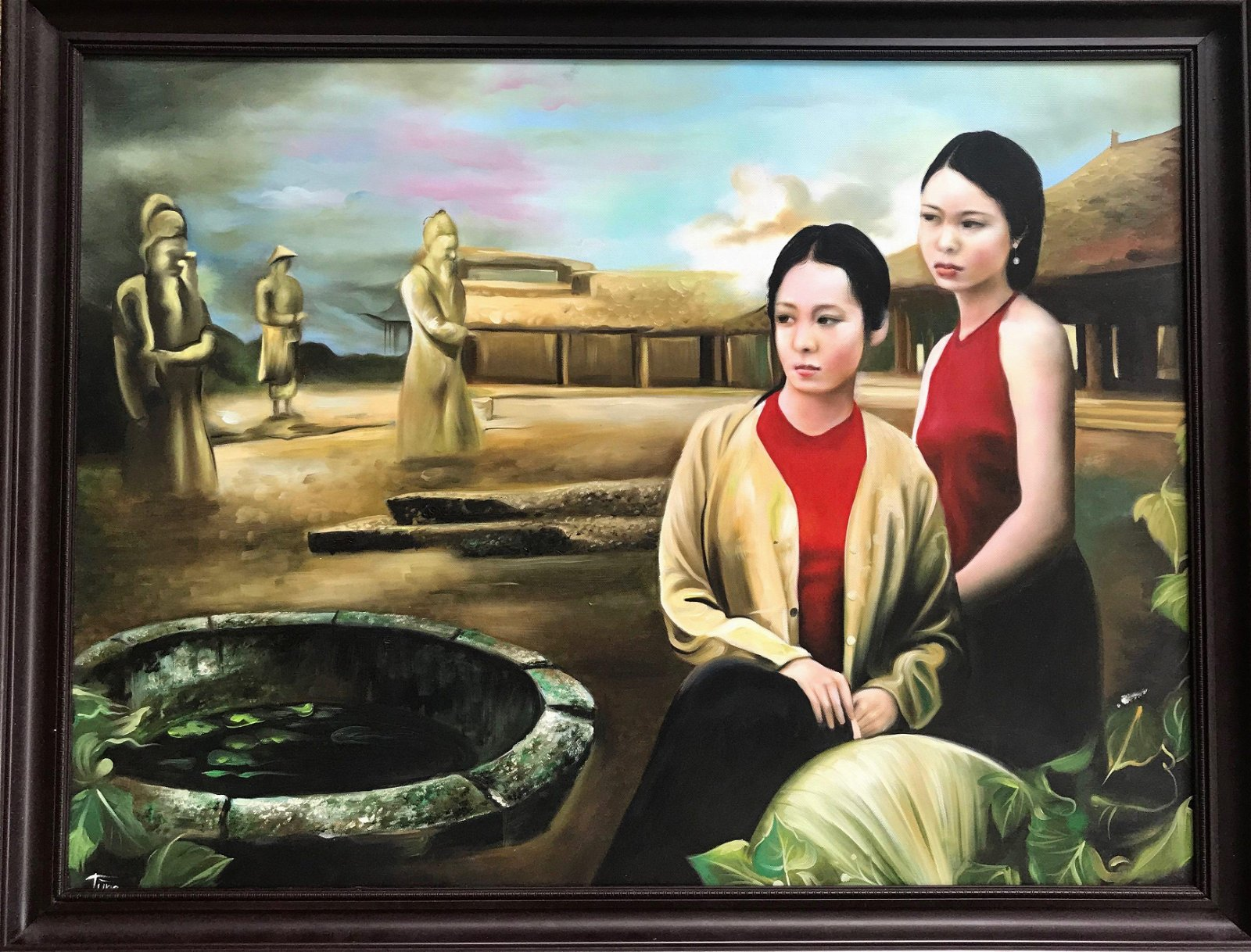 Chinese Oil Painting TRADITION IN MODERNITY Signed