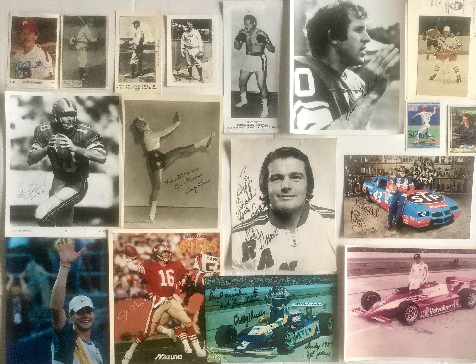 Autographed Photograph & Inscribed Sport Memorabilia