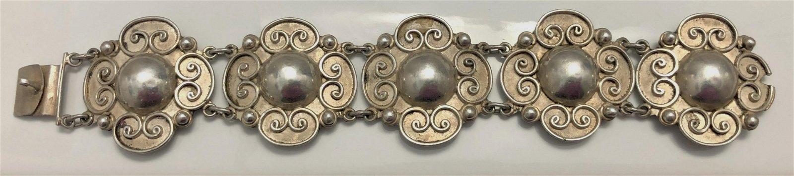 A Carmen Beckmann Sterling Silver Bracelet, 1960s