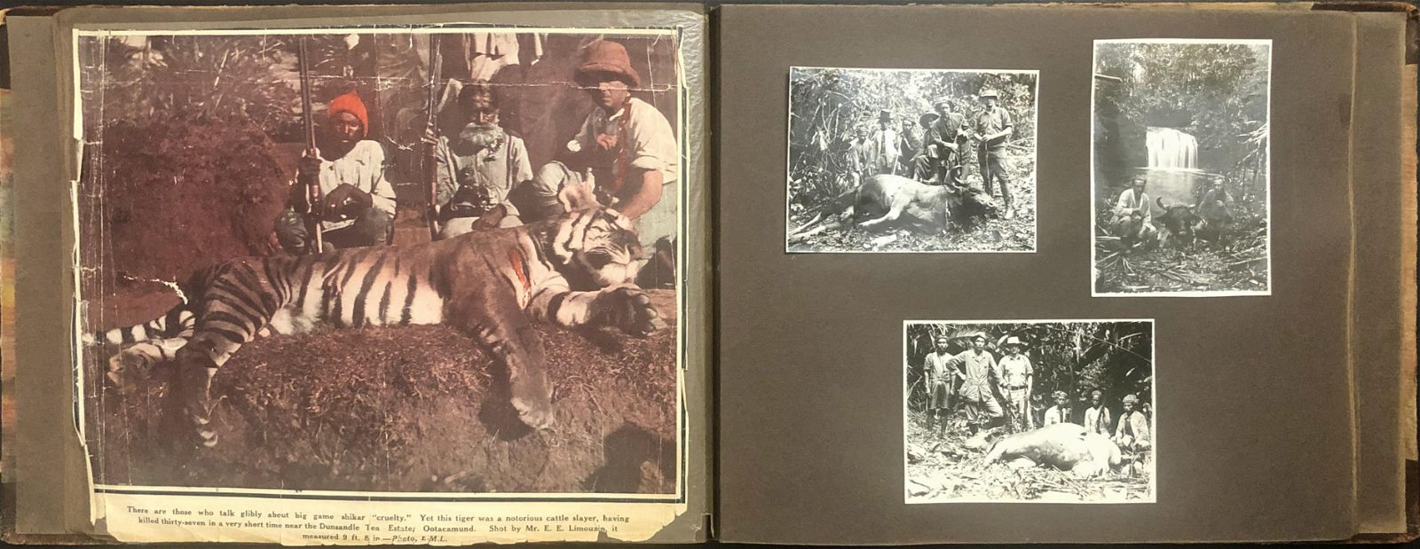 Southeast Asia Big Game Hunting Photograph Album 1925