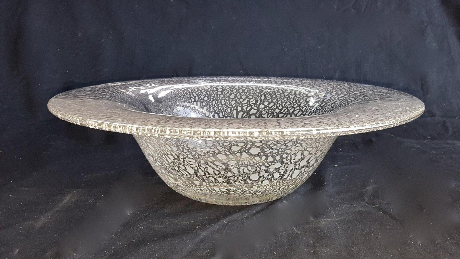 Chris Lebeau Unica Bowl With White Crackle 1929