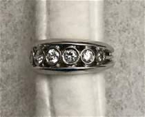Vintage 14k White Gold Ring Set With Diamonds