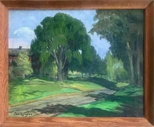 Carl Ringius (1879-1950) Forest Landscape Painting