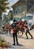 Original Illustration Painting BRITISH RED COATS 1940s
