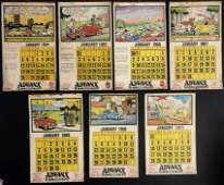 Vintage Advertisement ADVANX TYRE  RUBBER COCalendars
