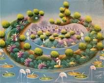 Haitian Surreal Landscape Painting, Isemorin F.
