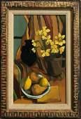 Selma Goldwitz Tabletop Still Life DAFFODILS 1950s