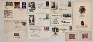 Autographed  First Day Covers & Stamps