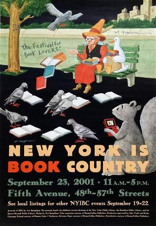 ART SPIEGELMAN Hand-Signed N.Y. IS BOOK COUNTRY, 2001