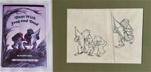 Original Cover Art DAYS WITH FROG & TOAD, ARNOLD LOBEL