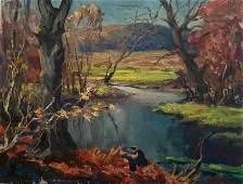 Bird Spencer Newman Landscape Painting, 1951