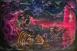 Sci-Fi Surreal Landscape Painting, Andrew Davis