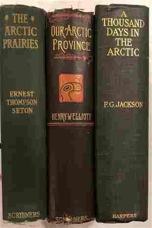 ARCTIC ADVENTURE & EXPLORATION BOOKS (3) W/ MAPS