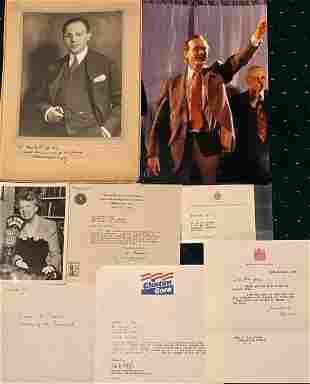 POLITICIANS Autographs, Photos & Letters  (100+)