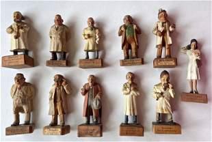 Austrian Figural Carvings:Naughty Nurse & Doctors 1930s