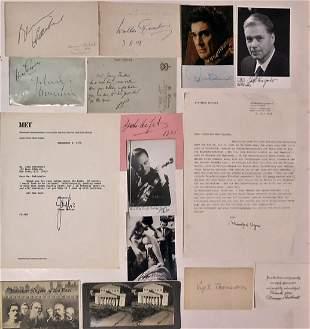 Musicians Artists & Authors Photographs & Letters (90+)