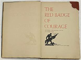 RED BADGE OF COURAGE, Stephen Crane Grabhorn Press 1931