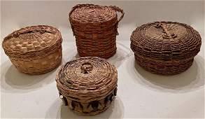 Maine, MICMAC Native American Handwoven Tribal Baskets