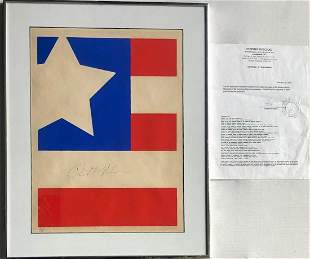 Richard Nixon Signed FLAG John Delullio w/COA