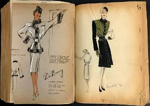 DU BARRY FASHION STUDIO ORIGINAL DRAWING 1930-40s (300)
