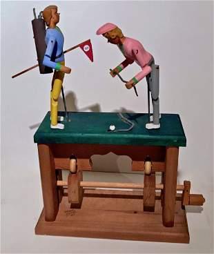 Folk Art Mechanical Wood Sculpture, Woody Jones, 1987