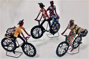 Papier-Mache Painted Folk Art Sculptures (3)