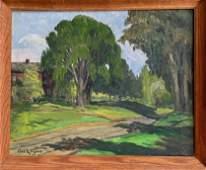 Carl Sigfrid Ringius Landscape Park Painting SUNSHINE