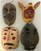 Folk Art Carved Vintage Carnival Masks