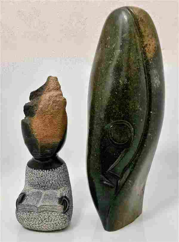 African Shona Carved Stone Sculptures, Signed 1960s