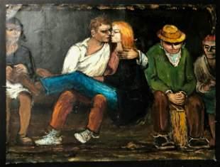 Albert Pels (American, 1910-1998) Painting c. 1930s