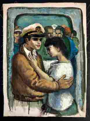 Albert Pels (American, 1910-1998) Painting c.1930s