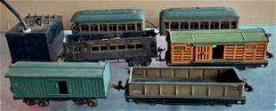Pre-War Lionel Train Railroad Cars W/ Control Box (6)